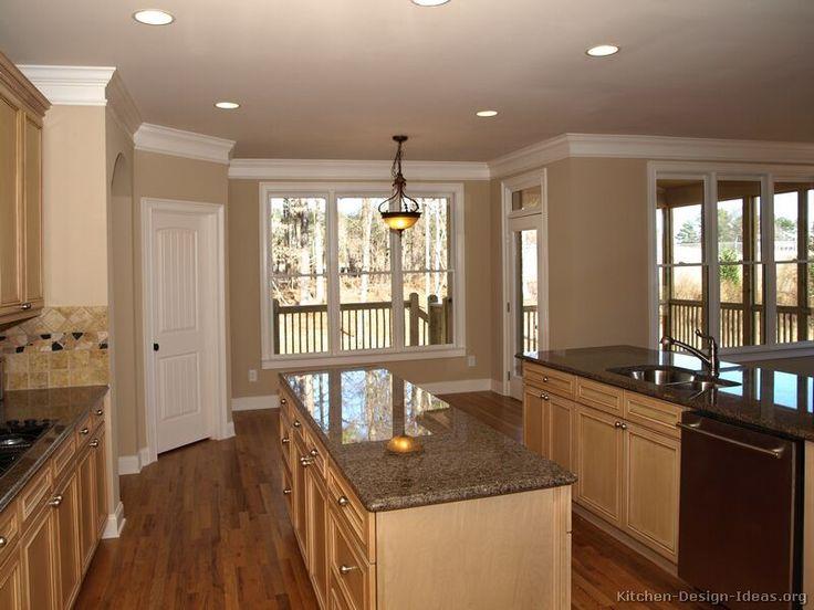 Light Wood Kitchen Cabinets - Darker Counters