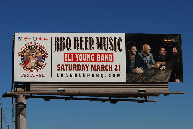 Billboard for the The Great American Barbeque & Beer Festival ...