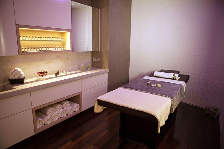 Massage room concrete, wallpaper, ambience..