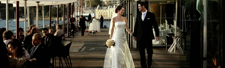 Absolute waterfront Sydney wedding receptions and venues for your special day...  http://www.sebelpierone.com.au
