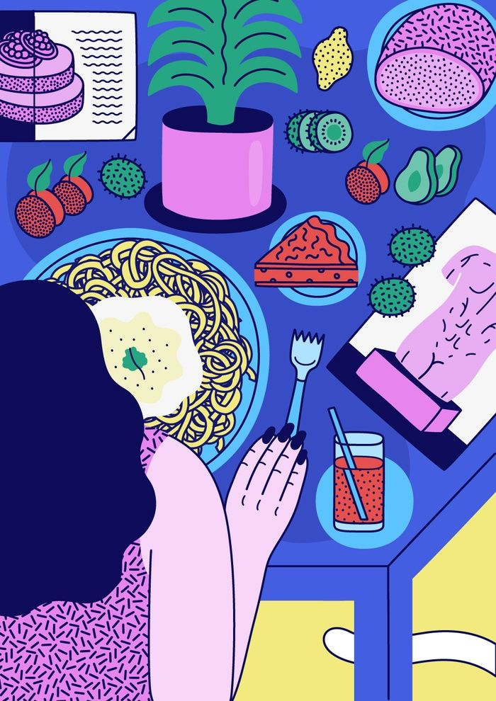 Dinner by Martina Paukova #illustration