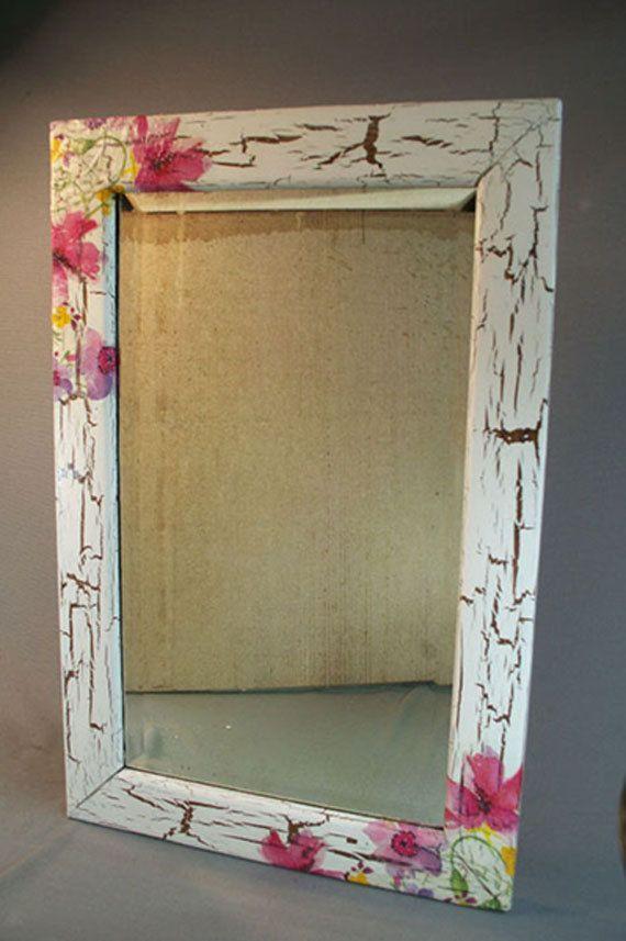 Antique Beveled Edge Mirror in Antique Oak Frame by GrammysLoft, $36.00