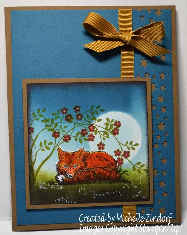 For My Foxy Friend – Stampin' Up! Card created by Michelle Zindorf - The Wilderness Awaits and Thought and Prayers stamp sets.