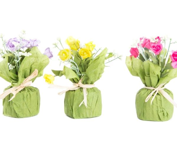 Set de 12 ramos de flores artificiales - multicolor