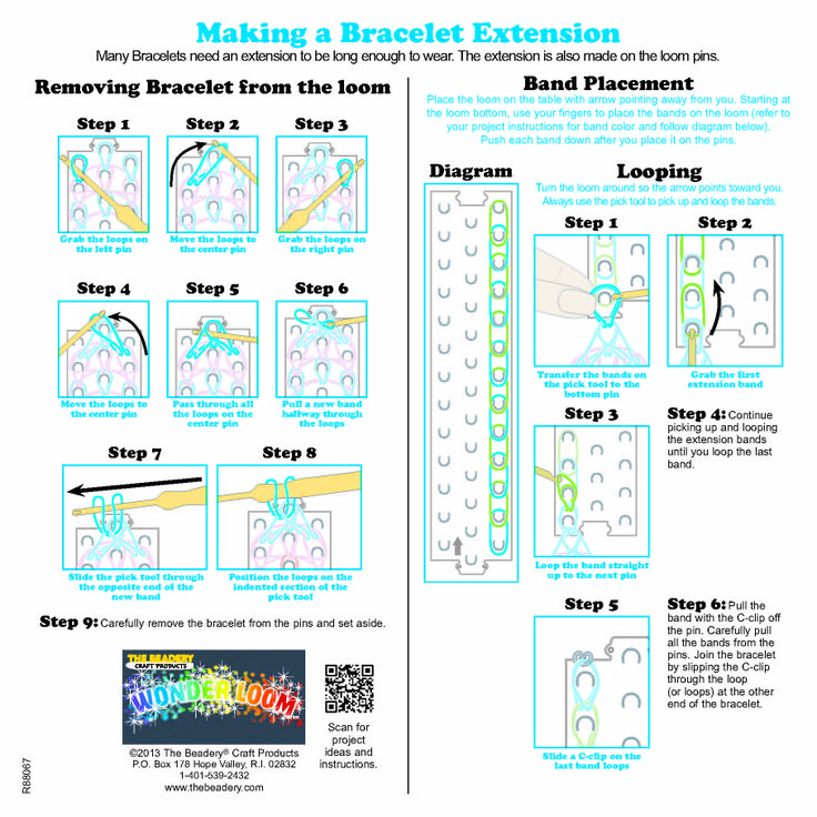 Wonder Loom Instruction Sheet Page 2 Loom Bands
