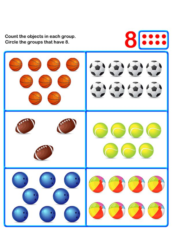 worksheets on Counting for PreK Educational Worksheets