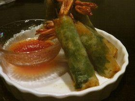 Shrimp shiso harumaki