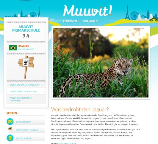 Muuvit Adventure contains WWF contents for environmental eaducation. Learn and teach about animals and living environments
