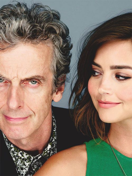 peter capaldi and jenna coleman | Tumblr --- Love to you, Jenna. You did a fantastic job taking care of our Doctor. <3 <3
