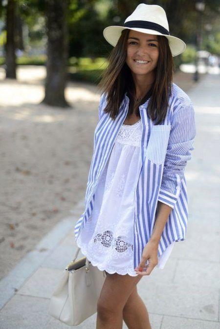 0b860a2b872 Рубашка в полоску женская (130 фото)  длинная