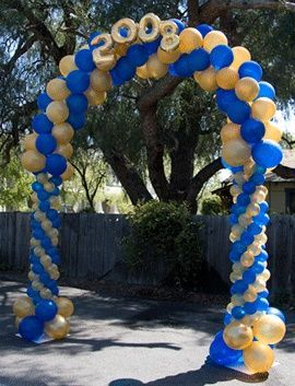 #Graduation Balloon Arch. I've also heard of doing these where half the arch is high school colors and the other half is college colors