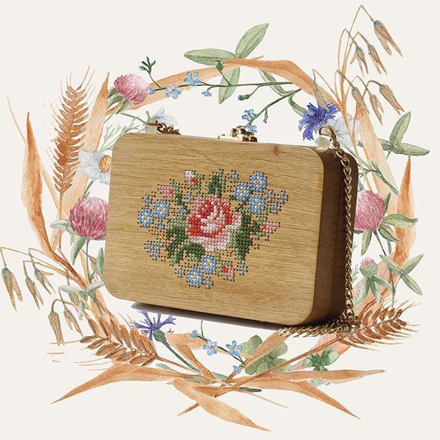 Handmade Pineapple Cross Stitched Oak Wood Backpack. Handmade Embroidered Wood Backpack is made with oak wood, hand-sewn suede leather