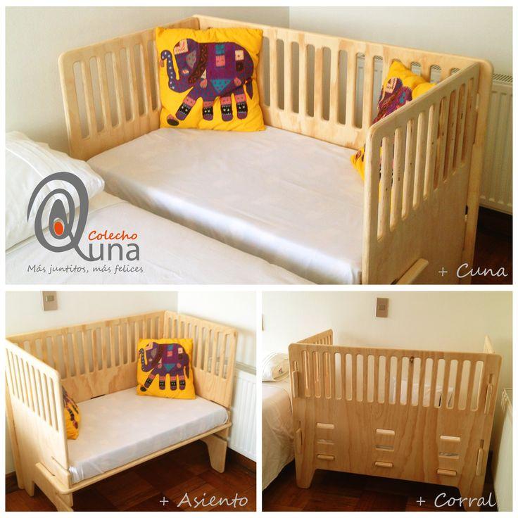 Cunas de colecho para crecer con tu bebe set pinterest - Cuna que se convierte en cama ...