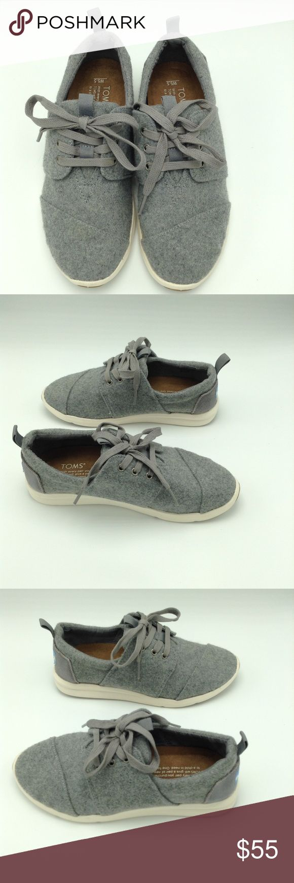 Toms Gray Del Ray Women's Sneakers Size 5.5 NWOT Toms Gray Del Ray Women's sneakers, never worn, size 5.5, NWOT, NWOB Toms Shoes Sneakers