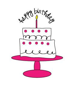 Free Birthday Cake Clipart for craft projects, websites, scrapbooking!