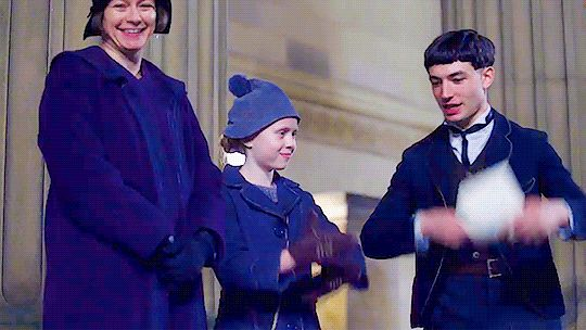 Ezra Miller being an adorable cutie rehearsing for Fantastic Beasts and Where to Find Them. gif