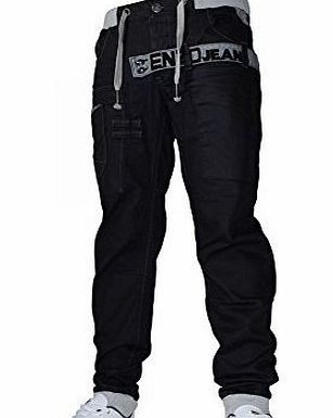 Enzo Mens Enzo EZ287 Black Designer Cuffed Jogger Jean Coated Denim Waist 38 Leg 32`` (38R) EZ287- Enzo B Material: 100% Cotton<br /> Colours: Black with Grey<br /> Fly- Button Fly<br /> Machine Washable (Barcode EAN = 5055905957367). http://www.comparestoreprices.co.uk/mens-jeans/enzo-mens-enzo-ez287-black-designer-cuffed-jogger-jean-coated-denim-waist-38-leg-32-38r-ez287-enzo-b.asp