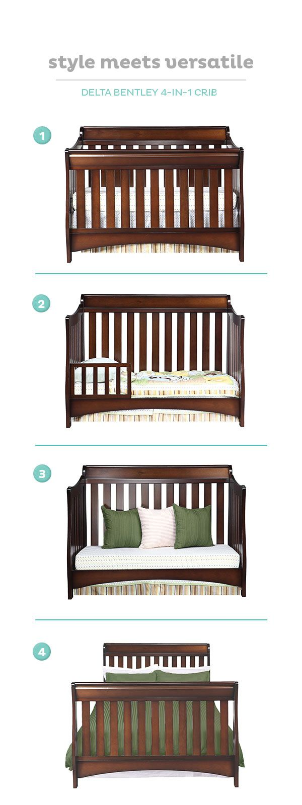 What is the best crib for baby - The Delta Bentley Crib Is A One Time Investment That Grows With Your Child
