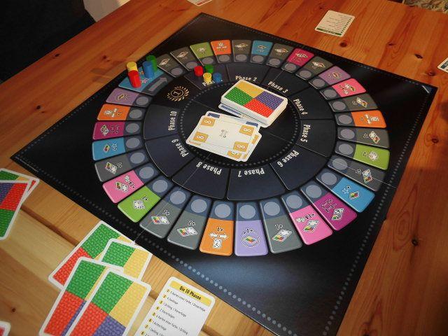 Referência cores, formato e disposição cartas  Im Test: Phase 10 – Das Brettspiel – mit Gewinnspiel!