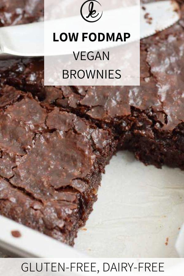 Low Fodmap Vegan Brownies Extra Fudgy Gluten Free And Lactose Free Recipe Fodmap Dessert Recipe Fodmap Baking Fodmap Snacks