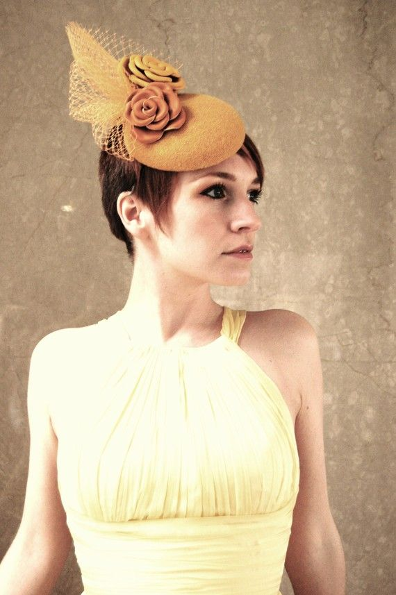 cocktail hat Leather Citrus Roses and by RedDragonflyAKATOMBO, £190.00