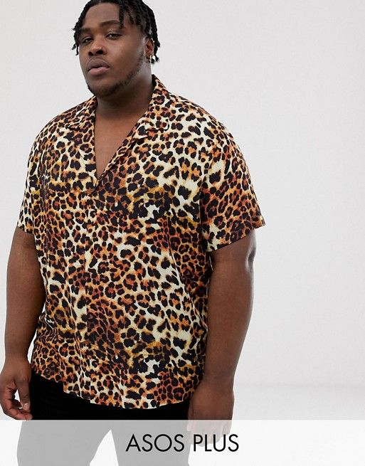d6d5ea1989 DESIGN Plus relaxed leopard shirt with deep revere collar in 2019 | ASOS  Spring/Summer | Leopard shirt, Fashion, ASOS