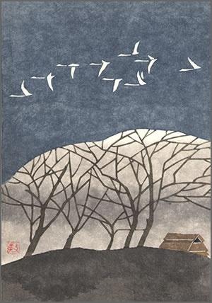 Japanese art calming