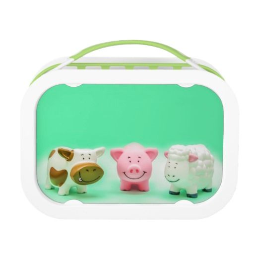 Funny Animals Farm Toys Lunchbox