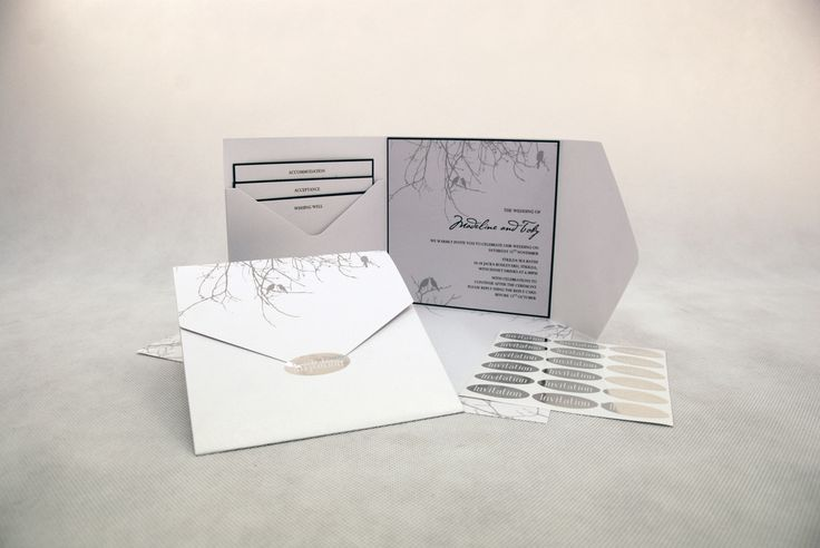 We have used the DIYI Deluxe Square Pocket and DIYI Love Birds Papers. You can print the paper using a laser printer or use it as a decorative layer on your invitation. Look out for the complete range in Officeworks.
