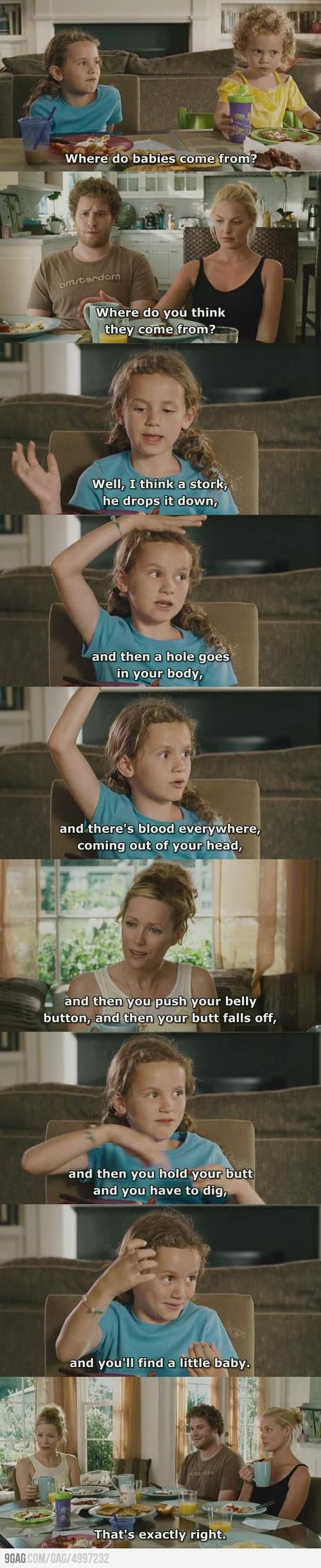 Knocked Up. One of my faves. Love thus part, cracks me up every time.