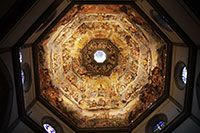 The fresco on the ceiling of the Florence cathedral's dome
