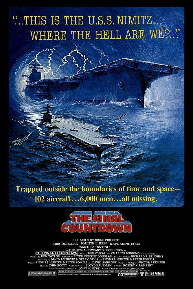 The Final Countdown 1980 Charles Durning Movie Posters Cinema Posters