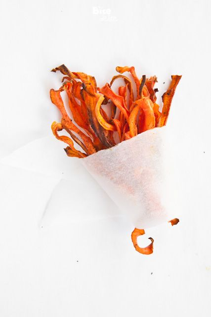 crispy carrot chips