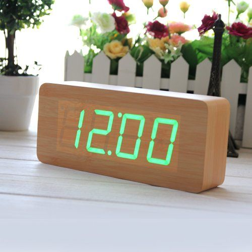 Innoo Tech Réveil matin bois LED vert Horloge digitale LED montre alarm -Sound Control Innoo Tech http://www.amazon.fr/dp/B00HWMBSOQ/ref=cm_sw_r_pi_dp_49O2ub1FASFYD