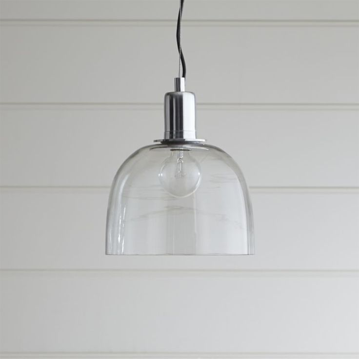 Shop dunn pendant light clear glass dome leaves nothing to hide letting a vintage