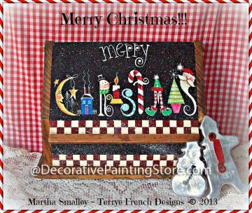 The Decorative Painting Store: Merry Christmas!!! Pattern by Martha Smalley