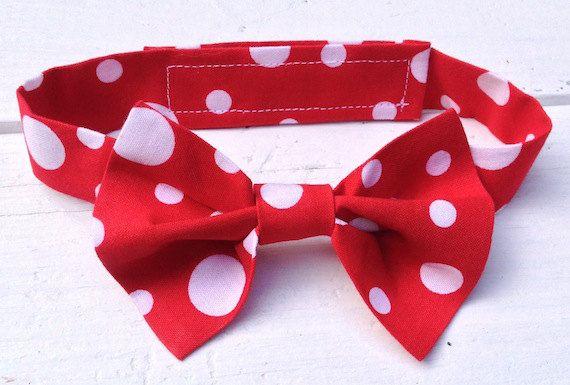 Boys Red Polka Dot Bow Tie, Boys Red Bow Tie, Boy Bow Tie, Baby Photo Prop Tie, Boys Polka Dot Bow Tie, Boys Birthday Ties, Red Bow Tie