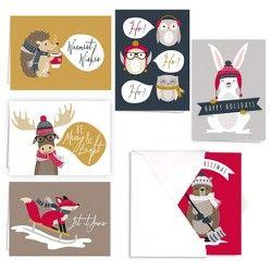 2ct Santa And Friends Greeting Cards - PAPYRUS : Target | Noel