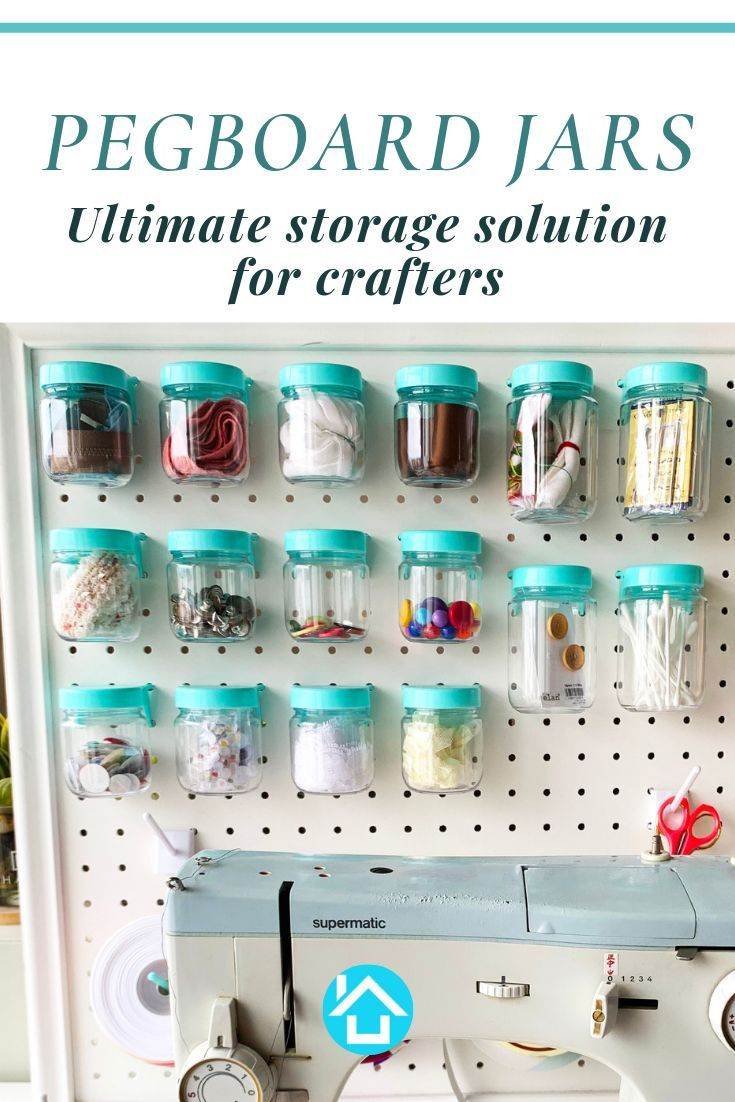 Pegboard Jars Perfect For Organizing Your Craft Room Or Garage Set Of 12 Blue Pegboard Accessories Peg Board Craft Room