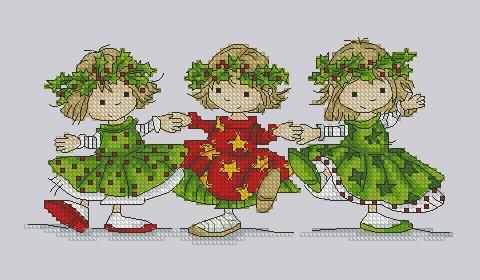 Gallery.ru / Рождественское трио - Мои схемы - fuchsia-flower