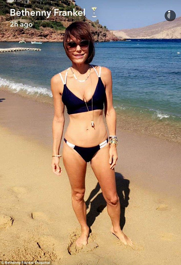 Island girl: Bethenny Frankel, 45, shared this bikini pic with her fans via…