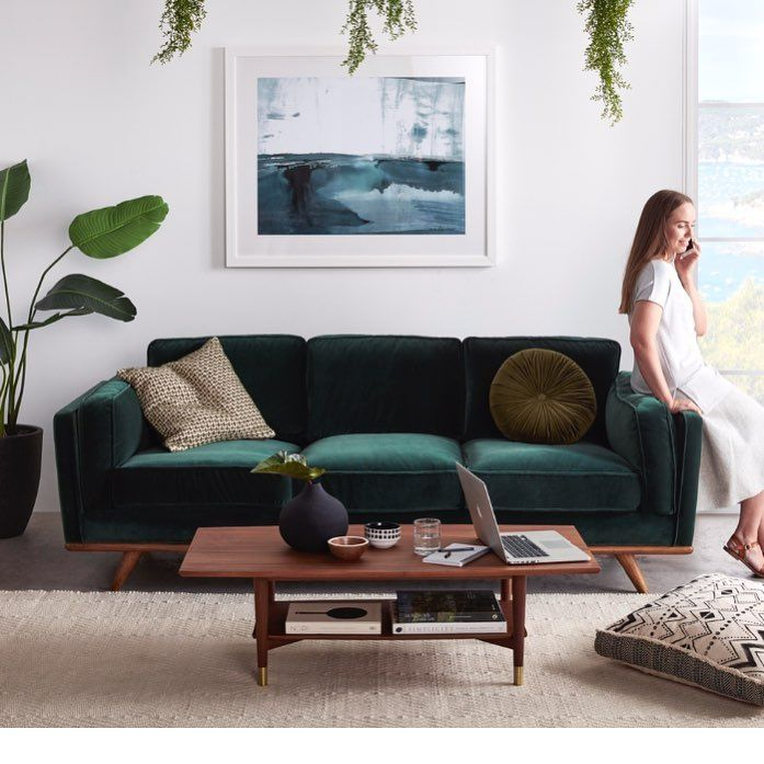 500 Likes 27 Comments Freedom Furniture New Zealand Freedom Nz On Instagram Our Favourite Da Green Sofa Living Room Living Room Green Green Sofa Living