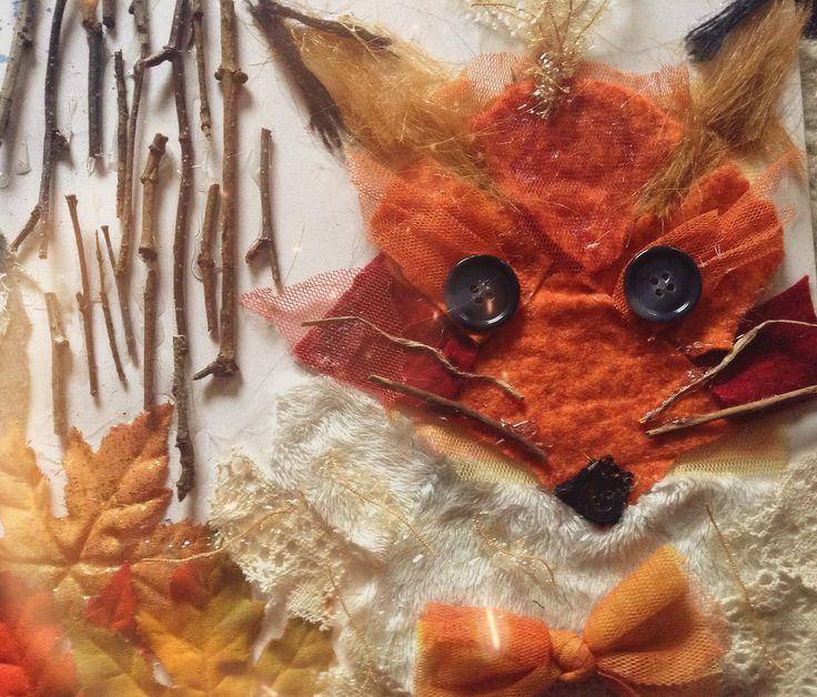 My Textile Fox GCSE art