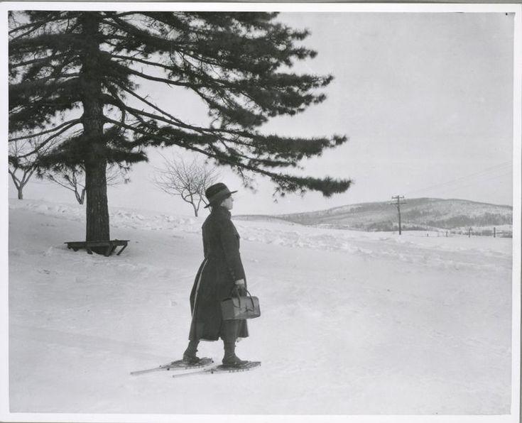 Rural health nurse, upstate New York, 1900-1937. (Lewis W. Hine)