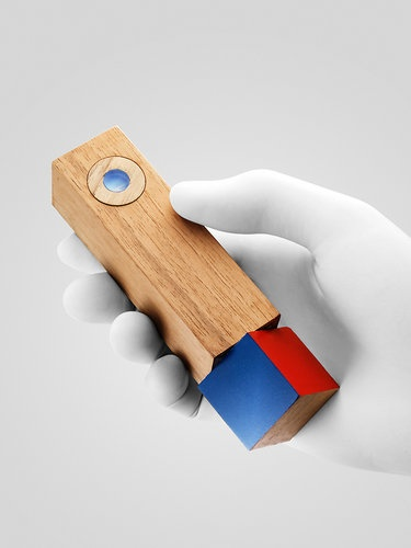 Radical Redesigns For The TV Remote: TWISTYMOTE – HILAL KOYUNCU, LEIF PERCIFIELD, FRANCISCO ZAMORANO – PARSONS    A turning handle with four colors matching four possible customizations. The project offers a complete usage scenario, with automatic learning of user preferences.