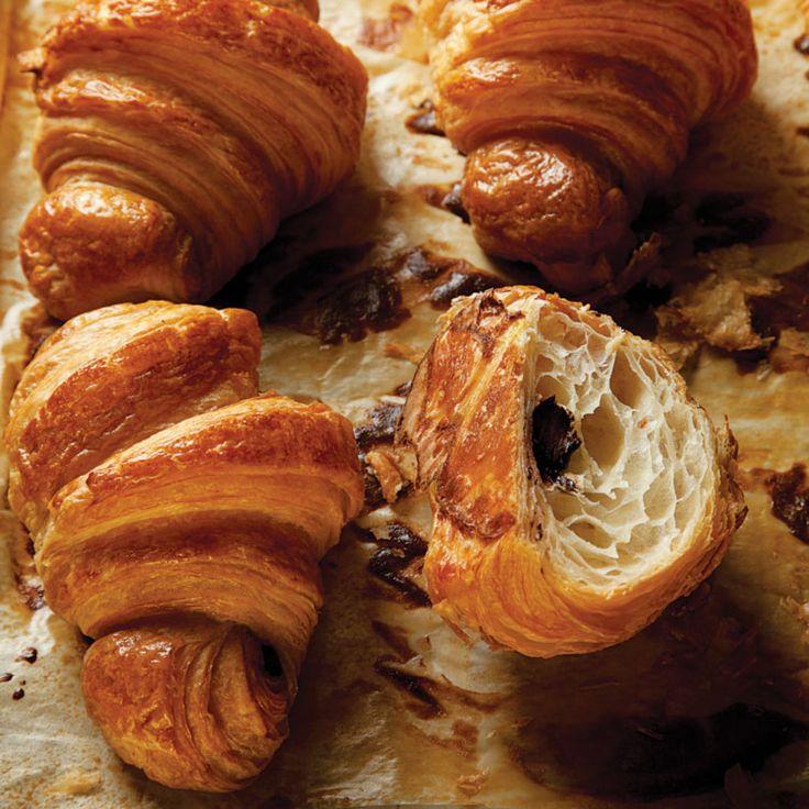 Chocolate Croissants by saveur #Croissants #Chocolate