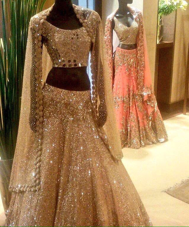 Manish Malhotra....this probably cost thousands but could you imagine showing up to your wedding in this!!