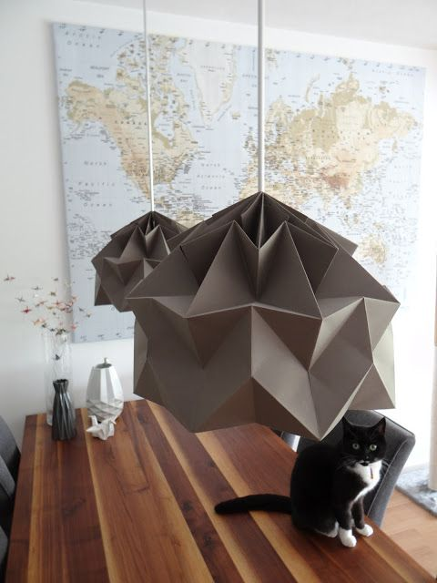 lampshades based on the origami Magic Ball | Mostly Folding