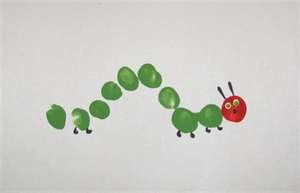 The Very Hungry Caterpillar Fingerprint Craft