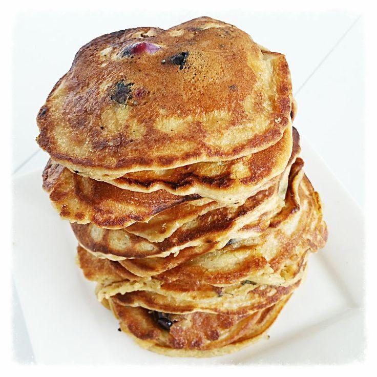 karnemelk pannenkoeken met blauwe bessen